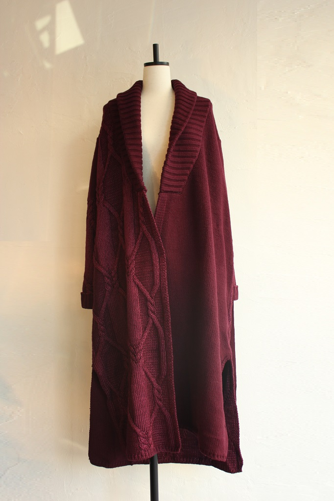 conical-cable-knit-gown